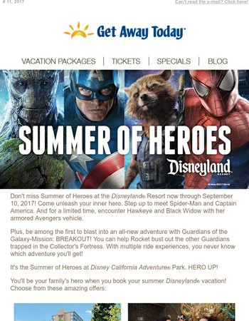 Don't miss Summer of Heroes at the Disneyland® Resort