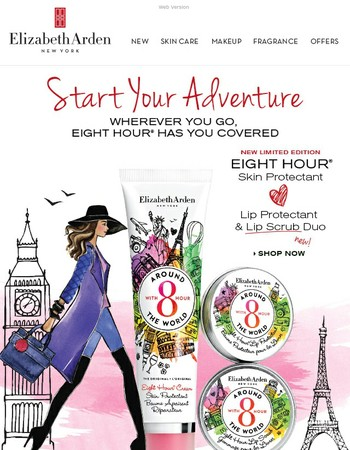 Take flight with our NEW Limited Edition Eight Hour® Skin Protectant!