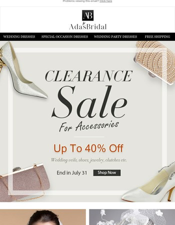 Clearance Sale For Accessories Up To 40% Off