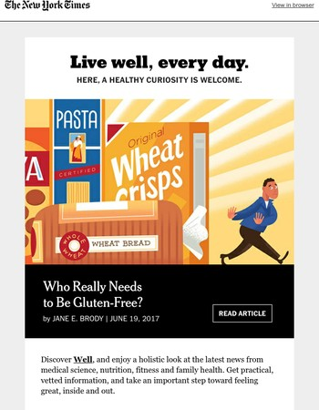 Can reading The New York Times help you feel better? Read Well and find out.