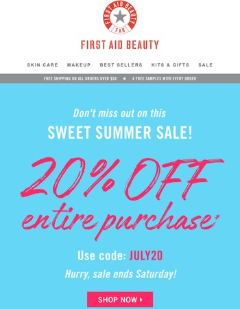 Save 20% now! This juicy summer sale ends soon!