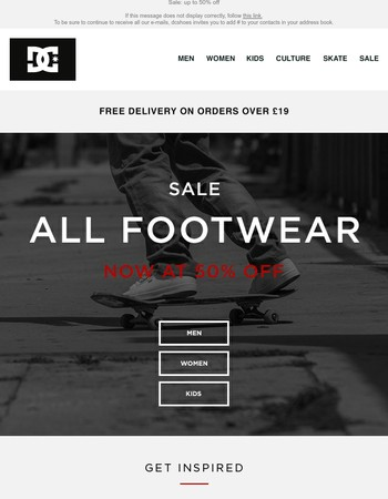 All footwear now at 50% off!