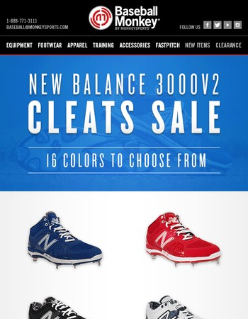 New Balance Cleats Sale - Only $29.98!