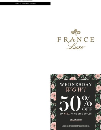 Wednesday Wow! 50% Off Six Featured Items
