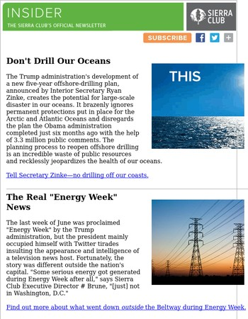 Stop Trump's Offshore Oil Disaster