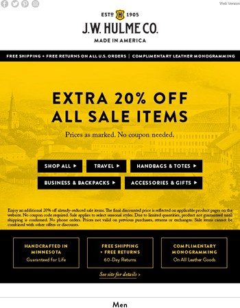 Extra 20% Off All Sale Items
