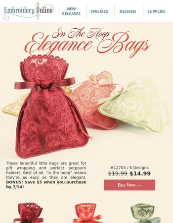 NEW: In The Hoop Elegance Bags