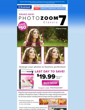 re: PhotoZoom Classic $50 Savings ENDING