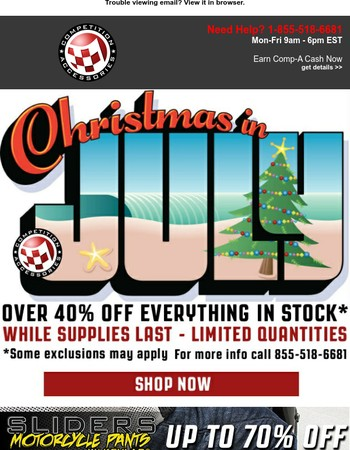 Christmas In July Part 2 | 40% Off Sitewide