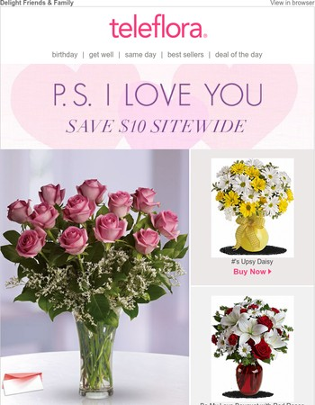 $10 Off: Heart Warming Bouquets!