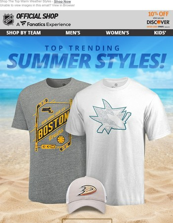 Keep Cool This Summer in Trending NHL Gear
