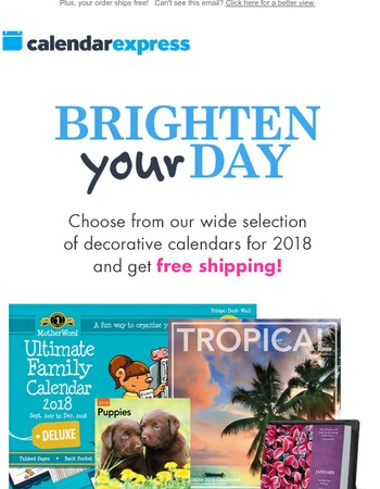 Calendar Express Newsletter