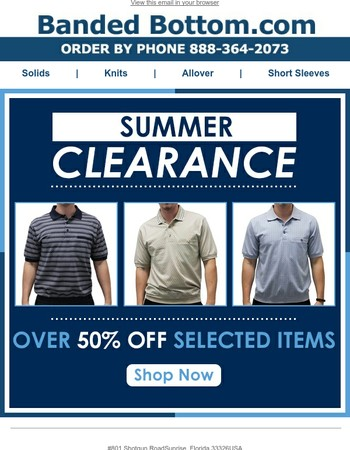 Summer Clearance ~ Over 50% Off Select Items!