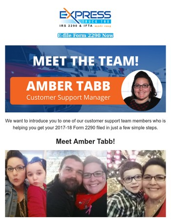 Hey! This is Amber from ExpressTruckTax.com!