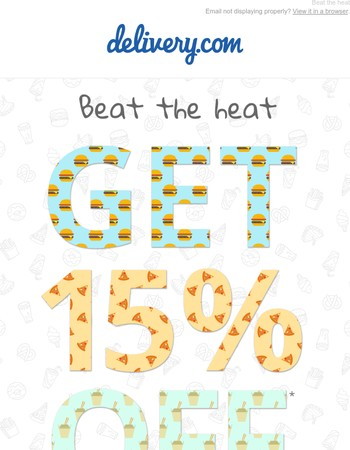 Stay cool with 15% off!