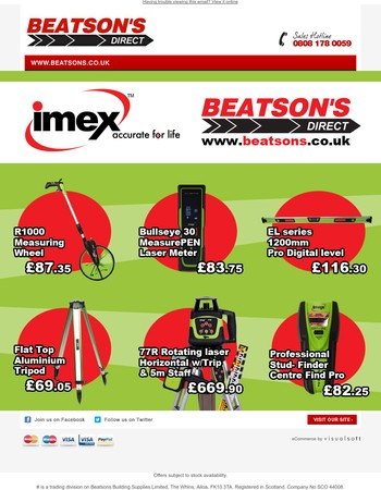 Discover IMEX online at Beatsons Direct