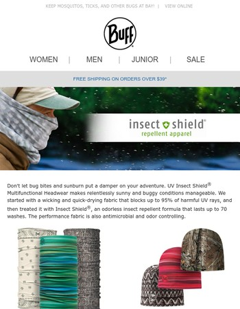 UV Insect Shield® Apparel
