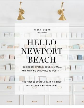 Hello Newport Beach | Sugar Paper Los Angeles