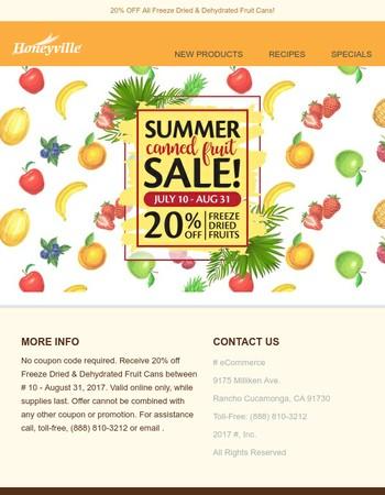 Enjoy this summer long promo!