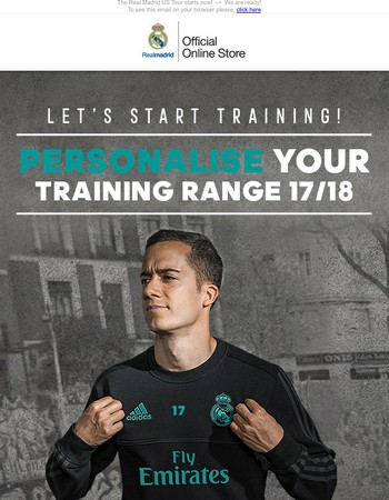 Exclusive Personalisation of the Training Range