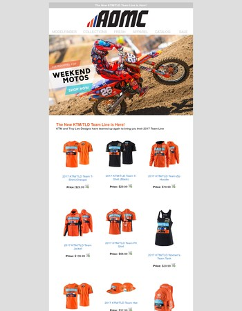 Mary The new KTM/TLD Team Line is here!