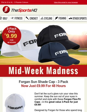 These Quality Sun Shade Caps 3 Pack - Just £9.99 For 48 Hours!!!