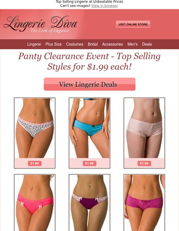 $1.99 Panty Clearance Event