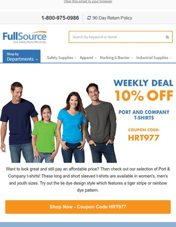 Save on Port and Company T-Shirts