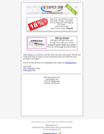 Ink Supply.com Newsletter