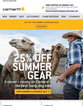 Have a happier Hump Day with 25% off summer gear