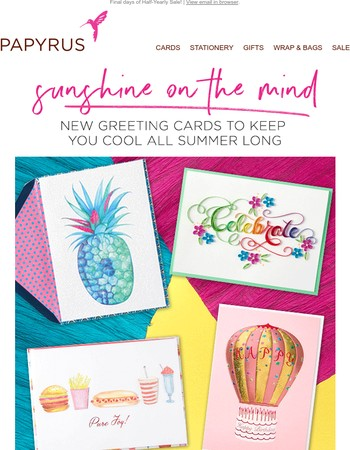 Shine bright with new greeting card arrivals for Summer
