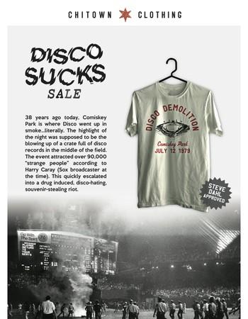 Disco Demolition Anniversary Sale + New Summer Design!