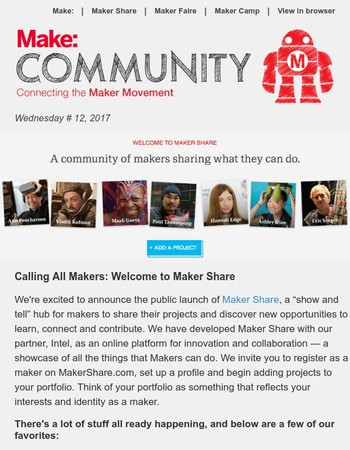 A community of makers sharing what they can do