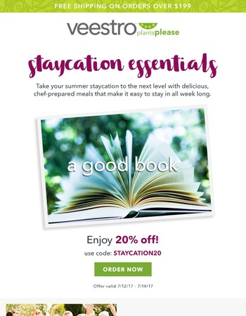 Stock up for staycation with 20% off!