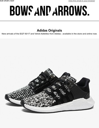 New 93/17s and Adilettes from Adidas