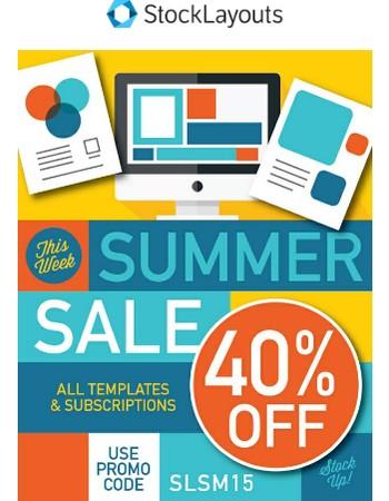 Save 40% - Spectacular Summer Sale!