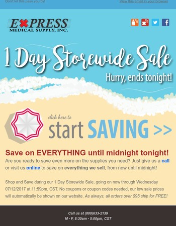 ⭐Don't Miss It! Our 1 Day Storewide Sale Is Ending Tonight!