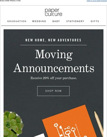 Move on over with these eco-friendly announcements