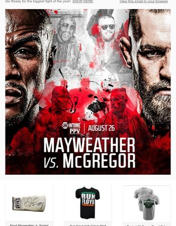 Get McGregor & Mayweather Fan Gear and Memorabilia