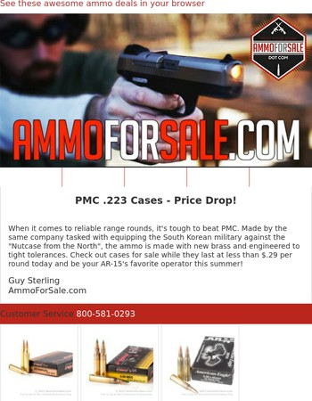 .223 Prices Slashed & More Ammo Specials