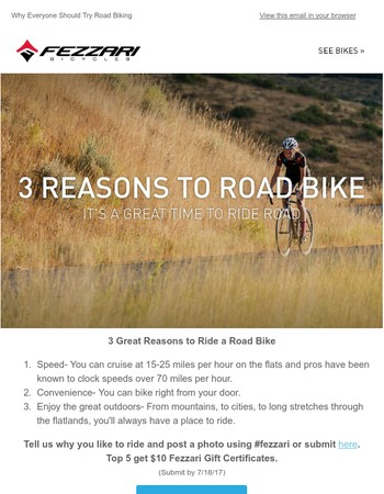 Why Everyone Should Try Road Biking. Here's 3 Great Reasons.