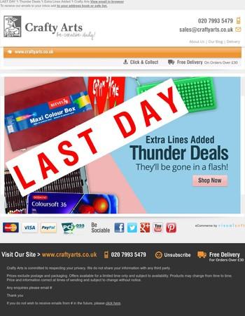LAST DAY ϟ Thunder Deals ϟ Extra Lines Added ϟ Crafty Arts