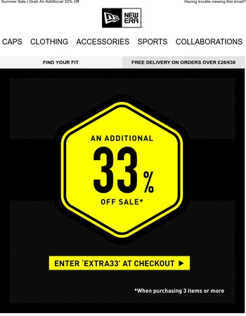 24 Hours Only - Grab An Additional 33% Off Sale