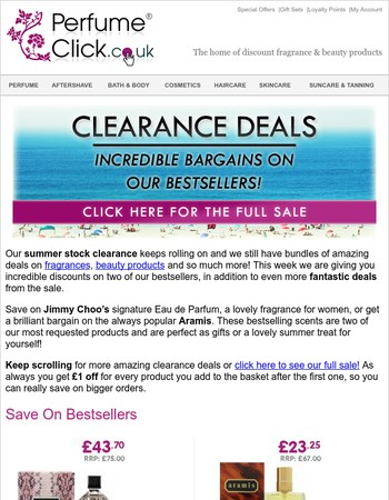 Summer Clearance | Deals On Bestsellers