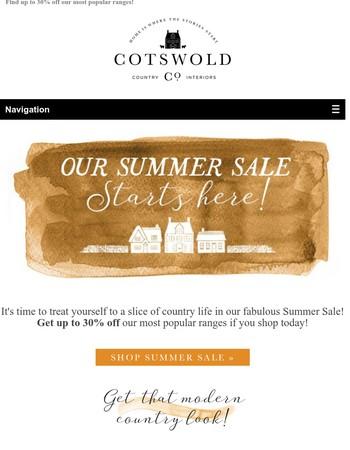 Shop Our Super Summer Sale