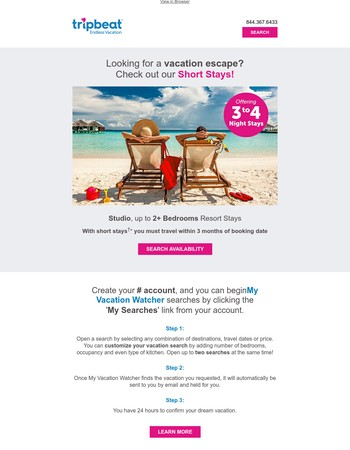 Endless Vacation Rentals Newsletter