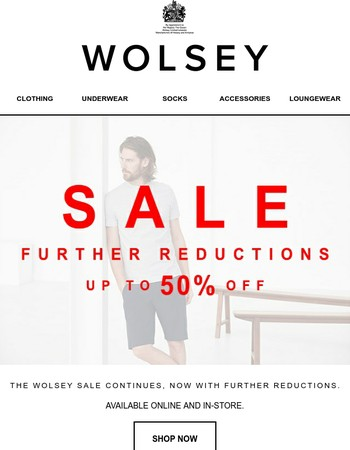 SALE | Further Reductions | Up to 50% Off