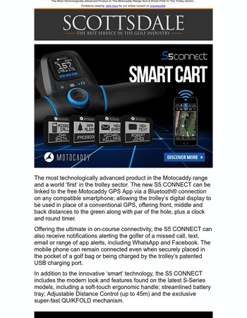 MOTOCADDY   Introducing S5 CONNECT...
