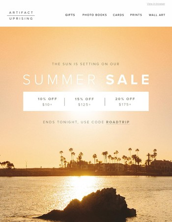 Summer Sale ends tonight!