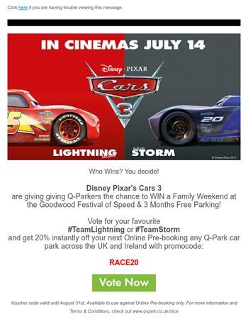 Disney Pixar's Cars 3 Giveaway!